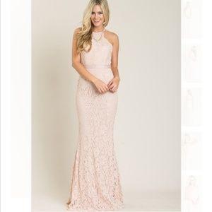 Dresses & Skirts - Amalia Lace Blush dress